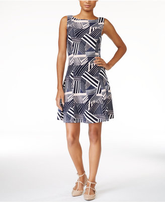 Maison Jules Printed Fit & Flare Dress, Only at Macy's $69.50 thestylecure.com