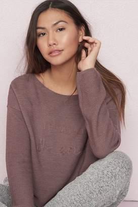 Garage Off-Shoulder Embroidered Sweater - FINAL SALE