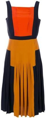Bottega Veneta pleated colour block dress