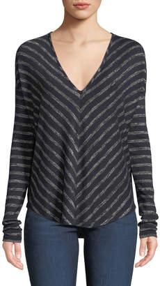 Rag & Bone Hudson Striped Long-Sleeve T-Shirt