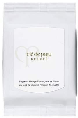 Clé de Peau Beauté Eye and Lip Makeup Remover Towelettes, 50 count