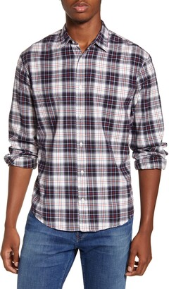 Frank And Eileen Finbar Regular Fit Plaid Button-Up Sport Shirt