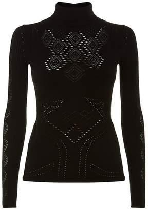 Roberto Cavalli Pointelle Knit Sweater