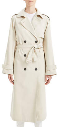 Theory Staple Classic Crepe Long Trench Coat
