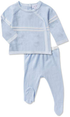 Angel Dear Take Me Home Knit Top w/ Footed Leggings, Size Newborn-3 Months