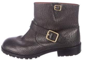 Marc by Marc Jacobs Metallic Embossed Leather Ankle Boots