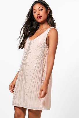 boohoo Boutique Geo Embellished Shift Dress