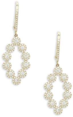 Diana M Jewels Women's Bridal Geometric Diamond & 14k Yellow Gold Drop Earrings