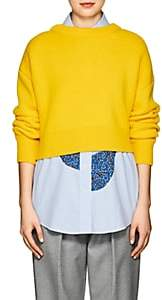 Cédric Charlier Women's Wool-Cashmere Asymmetric Cardigan-Yellow