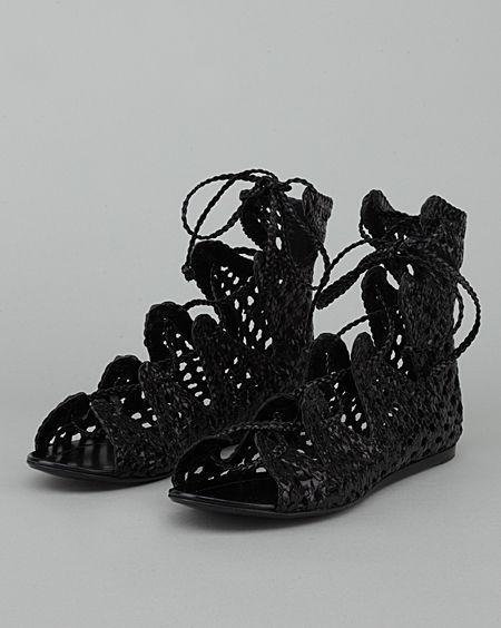 Sigerson Morrison / Woven Chili Sandal Bootie