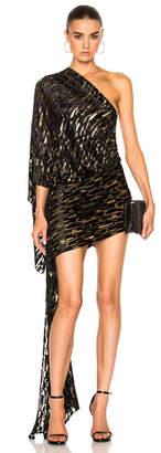Alexandre Vauthier Velvet Jacquard One Shoulder Dress