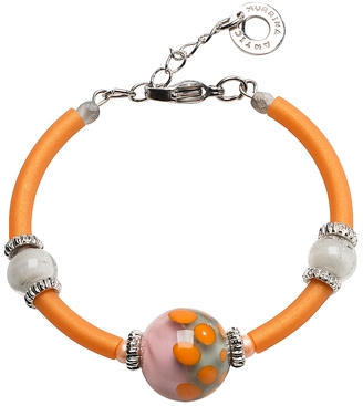 Antica Murrina Papaya 2 Orange Bracelet w/Pastel Murano Glass Beads $55 thestylecure.com
