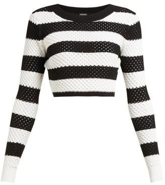 d6fd0ebd4a8e19 Dodo Bar Or Margaret Striped Cotton Top - Womens - Black White