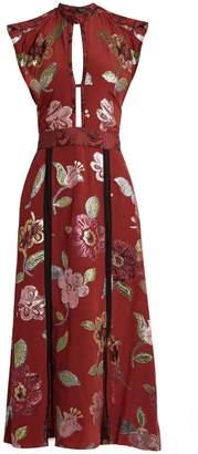 BURBERRY PRORSUM Floral fil coupé silk crepe de Chine gown $3,056 thestylecure.com