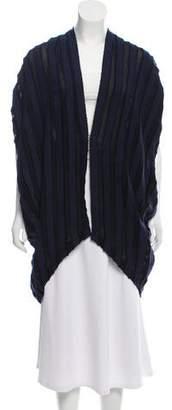 Zero Maria Cornejo Sheer-Paneled Short Sleeve Jacket