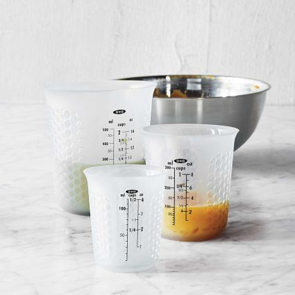 OXO Squeeze and Pour Silicone Measuring Cups