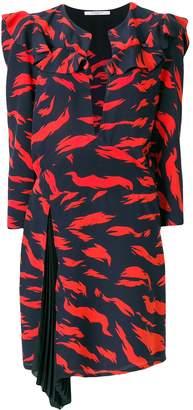 Givenchy Tiger Printed Ruffle Dress