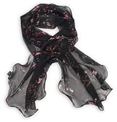 Lauren Ralph Lauren Floral Oblong Silk Chiffon Scarf