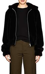 Helmut Lang Women's Faux-Fur Bomber Jacket - Black