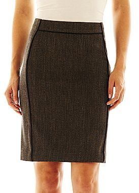 JCPenney Worthington® Piped-Trim Pencil Skirt - Petite