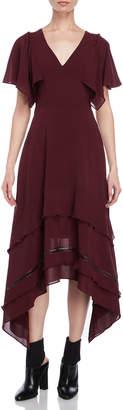 Derek Lam Flutter Silk Handkerchief Dress