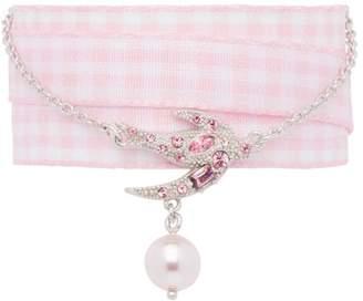 Miu Miu ribbon silver bracelet