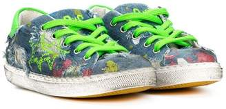 Star Kids 2 printed distressed sneakers