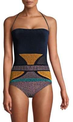 One-Piece Lurex Swimsuit