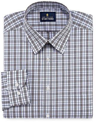 STAFFORD Stafford Travel Performance Super Shirt Long Sleeve Woven Plaid Dress Shirt