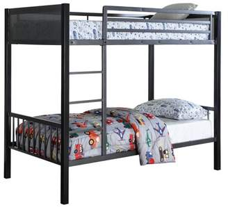 Coaster Company Coaster Meyers Bunk Bed, finished in two tones black/gunmetal