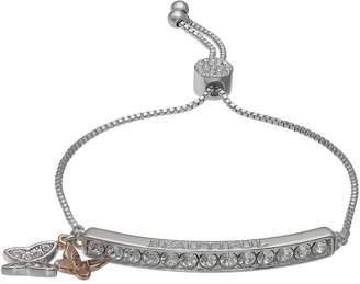 "Brilliance+ Brilliance Swarovski Crystal Bar ""Beautiful"" Charm Bracelet"