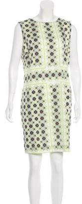 St. John Printed Mini Dress