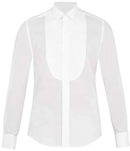 Lanvin Double-cuff cotton and silk-blend shirt