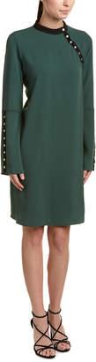 BCBGMAXAZRIA Snap-Trim Shift Dress