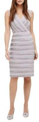 Phase Eight Sadie Textured Surplice Sheath Dress