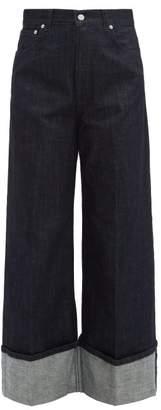 J.W.Anderson Turn Up Wide Leg Jeans - Womens - Indigo