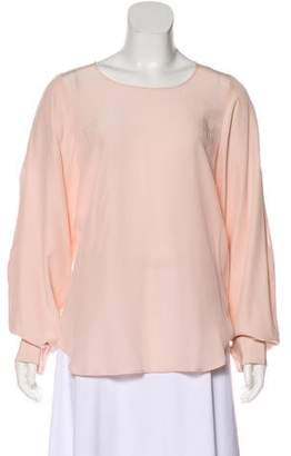 Maison Margiela Long Sleeve Silk Blouse