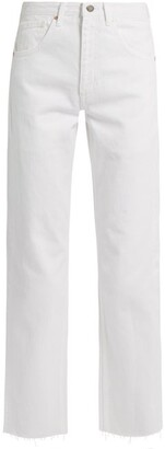 Raey Press Straight Leg Jeans - Womens - White
