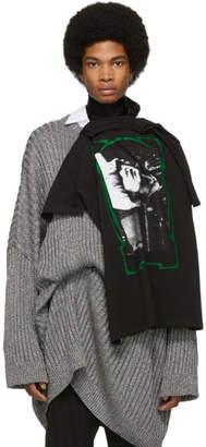 Raf Simons Black T-Shirt Scarf