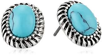 Chaps Women's Oval Stud Earrings