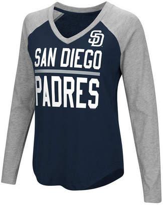 G-iii Sports Women's San Diego Padres Power Hitter Raglan T-Shirt