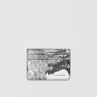 Burberry Dreamscape Print Leather Card Case