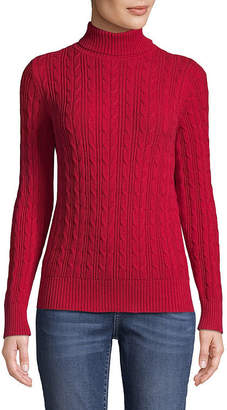 ST. JOHN'S BAY Long Sleeve Turtleneck Sweater - Tall