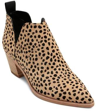 Dolce Vita Women's Sonni Leopard Print Calf Hair Ankle Booties