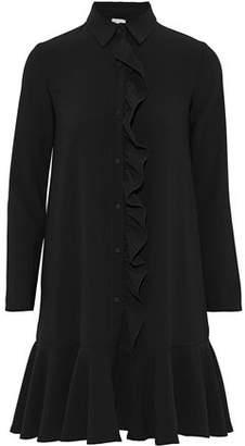 Iris & Ink Cameron Ruffled Cady Mini Shirt Dress