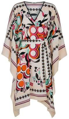 Fendi Floral Print Silk Kaftan