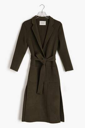 Genuine People Mid Weight Wool Wrap Coat