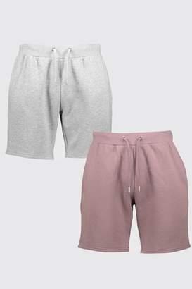 boohoo 2 Pack Mid Length Shorts