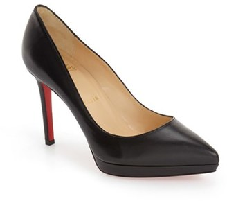 Women's Christian Louboutin Pigalle Plato Pointy Toe Platform Pump $795 thestylecure.com