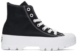 Converse Black and White CTAS Lugged Hi Sneakers